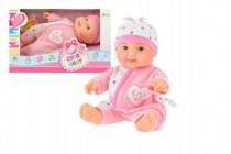 Miminko panenka růžové plast 22cm pevné tělo