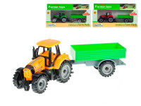 Traktor s vlečkou 19 cm volný chod - mix barev