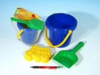 Sada na písek - kbelík, lopatka, bábovka plast v sáčku 12m+