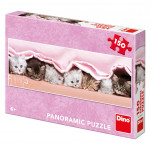 Puzzle 150 dílků Koťátka pod dekou panoramic