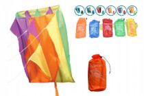 Drak létající nylon 60x51cm - mix barev