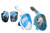 Šnorchlovací potápěčská maska pro dospělé 27cm vel. L-XL - mix barev