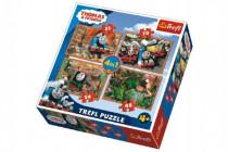 Puzzle 4v1 Mašinka Tomáš a přátelé