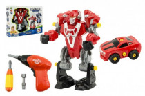 Transformer/Auto Robot šroubovací plast 23cm na baterie