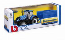 Bburago 1:32 Farm Tractor New Holland W8 s vlečkou - mix variant či barev