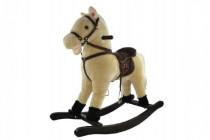 Kůň houpací béžový plyš výška 71cm nosnost 50kg