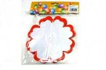 Girlanda papírová květ 4m mix druhů v sáčku karneval - mix variant či barev