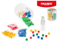 Paulinda Super Beads Jumbo 10x8 mm 160 ks s doplňky v dóze - mix barev