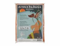 Tkanina dekorační z juty oranžová 1,3x1m