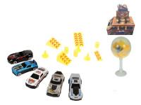 Auto kov 7 cm volný chod s doplňky v plastovém lízátku - mix variant či barev