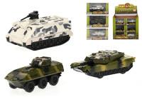 Tank 9-10 cm kov zpětný chod - mix variant či barev