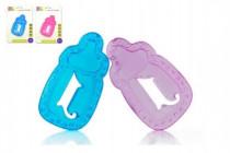 Kousátko chladící lahvička plast 11cm - mix barev