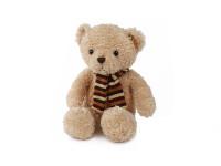 Medvěd plyšový 23,5 cm sedící se šálou