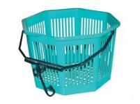 košík na kolíčky osmihr. pr.20x13cm plastový - mix barev