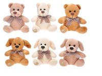 Medvídek s mašlí plyš sedící 11cm - mix variant či barev
