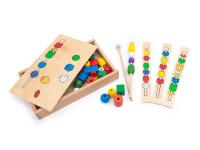 Navlékání korálků - dřevěná montessori hračka