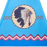 Dětský indiánský stan teepee PlayTo modrý - VÝPRODEJ