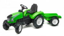 Traktor Garden Master šlapací s valníkem zelený