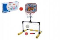 Sada basketbal vodní + fotbalová branka 2v1