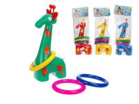 Žirafa 32 cm s házecími kroužky - mix barev