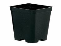 Květník STOP QUADRO plastový černý 12x12cm