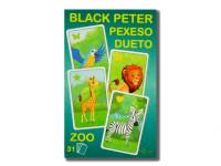 Černý Petr/Pexeso/Dueto ZOO 3 v1 7x10,5x1,5 cm 31 ks
