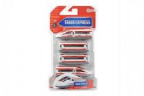 Vlak s vagóny na magnety 4ks 48cm plast na zpětný chod - mix barev