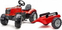 Traktor šlapací Massey Ferguson červený s valníkem