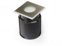 svítidlo LED zápustné 10x10cm, 4,0W, IP67 teplé, do země, betonu