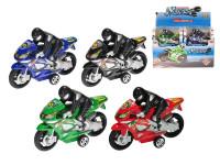 Motorka s jezdcem 16,5 cm na setrvačník - mix barev