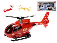 Helikoptéra 32 cm narážecí na baterie se světlem a zvukem - mix variant či barev