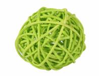 Koule aranžovací ratanová světle zelená 8cm