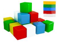 Kostky stavební 7 cm barevné 20 ks ve fólii