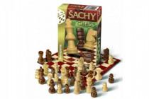 Šachy cestovní společenská hra dřevo