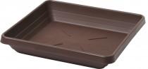 Plastia miska čtyřhranná Lotos - čokoládová 14x14