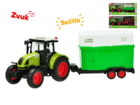 Traktor s vlečkou na setrvačník a baterie se světlem a zvukem - mix variant či barev