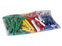 kolíčky na prádlo plastové (100ks) - mix barev