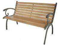 lavička zahradní 123x54x77cm litina/dřevo