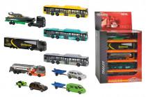 Auta osobní, nákladní a autobus v displeji - mix variant či barev