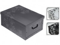 box úložný 51x37x24cm s víkem karton - mix barev