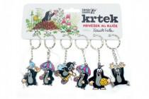 Kovový přívěšek Krtek na klíče 5cm - mix variant či barev