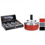 popelník 9x9,5cm se zásobníkem CLICK kov. - mix barev
