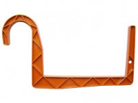 Držák na truhlík balkon - S trubka terakota 15 cm