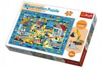 """Puzzle """"Hledání předmětů"""" Na Staveništi 48x34cm 70dílků"""