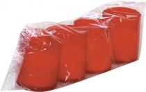 Svíčka červená 3 x 40 g s víčkem (Km6/40/b)
