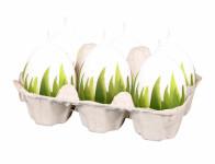 Svíčka velikonoční TRÁVA matná malované vejce d4,5x6,5cm
