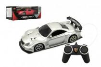 Auto RC sport na dálkové ovládání 25cm plast na baterie se světlem - mix barev