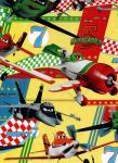 Balicí papír dětský 2mx70 cm, Letadla/Planes - žlutý, DITIPO - VÝPRODEJ