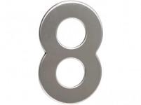 číslo domovní č.8 95mm nerez - VÝPRODEJ