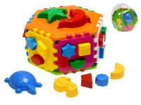 Kostka vkládací šestihran 22,5x22x14,5 cm geometrické tvary a zvířátka